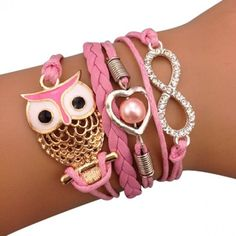 40 Hot Pink Bracelet