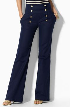 Lauren+Ralph+Lauren+Lauren+by+Ralph+Lauren+Wide+Leg+Pants+available+at+#Nordstrom