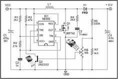 Adjustable HV Power Supply for Stompbox - Electronics-Lab Electronics Engineering Projects, Electronic Circuit Projects, Electronic Engineering, Power Electronics, Electronics Basics, Electronics Storage, Switched Mode Power Supply, Electrical Circuit Diagram, Power Supply Circuit