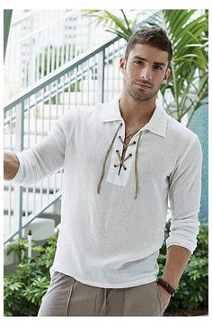 Casual Shirts, Casual Outfits, Men Casual, Fashion Outfits, Indian Men Fashion, Mens Fashion, Mens Tunic, Tunic Shirt, Gents Shirts
