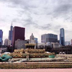 Chicago, Illinois. Buckingham Fountain.