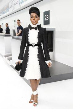 Janelle Monáe at Chanel Spring 2016