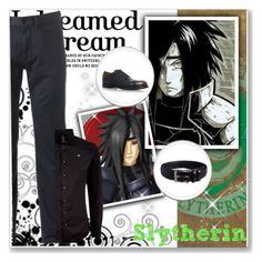 """Hogwarts Students: Madara Uchiha"" by bambolinadicarta ❤ liked on Polyvore featuring Madara, Dockers, Vivienne Westwood, Officine Creative, Florsheim, men's fashion, menswear, slytherin, hogwarts and narutoshippuden"