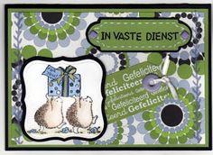 Stempel: Penny Black, ingekleurd met Derwent potloden. Mallen spellbinders. Tekststempel: different colors