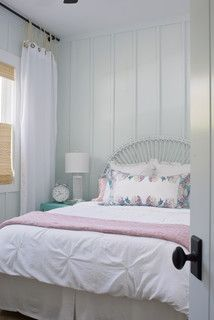 Guest Bedroom 2 - traditional - Bedroom - Other Metro - Rethink Design Studio Decor, Country Cottage Bedroom, Kids Room Curtains, Traditional Bedroom, Curtains Living Room, Farmhouse Bedroom Furniture, Bedroom Design, Shabby Chic Bedroom, Home Decor