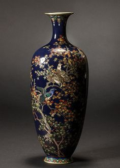 Buy online, view images and see past prices for Japanese Meiji Cloisonne Silver Wire Bird Vermeil Vase. Invaluable is the world's largest marketplace for art, antiques, and collectibles.