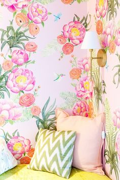 Tour a Glam Floral Nursery by Emily Henderson via @MyDomaine