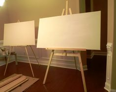 """need to do this because easels can be pricey! -- """"Lazy Liz on Less: Build a Cheap, Quick and Easy Artist Easel"""""""