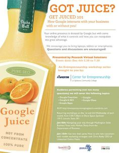Don't forget to RSVP for our upcoming Google Juice Class on Dec 4th at Share Space Spokane at 5.30pm.