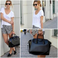 Wearing Antigona bag and Chanel espadrilles. Lovely black and white outfit. Street style. Inspiration. Fashion. Blogger. Look.
