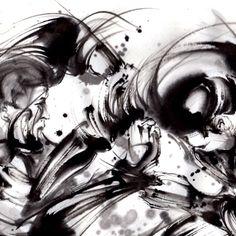 墨絵アートギャラリー   墨絵アーティスト、西元祐貴オフィシャルサイト Samurai, Abstract, Illustration, Artwork, Summary, Work Of Art, Auguste Rodin Artwork, Artworks, Illustrations