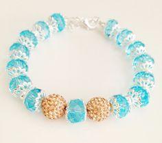 Sparkly flower bracelets by Hellenna on Etsy, £12.00