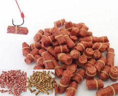 100 unids/bolsa Red de pesca de la carpa cebo olor Carpa Herbívora Cebos de Pesca Cebos señuelo fórmula varillas de partículas de insectos traje de partículas géneros