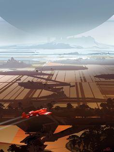nicolas sparth bouvier : into the marshland Environment Concept Art, Environment Design, Cgi, Cosmos, Spaceship Concept, Sci Fi Fantasy, Daily Fantasy, Fantasy Places, Science Fiction Art