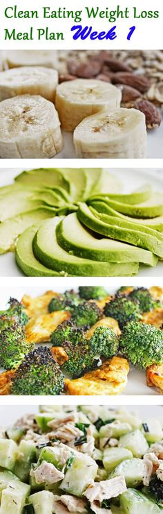 Enjoy week 1 of clean eating and weight loss meal plan! #cleaneating #diet #weightlosshelp