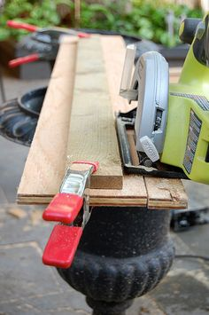 Cutting plywood by The Art of Doing Stuff, via Flickr - tip for cutting straight edges without a table saw. This will be key for my half-baked potting shed plans. giftmas #2