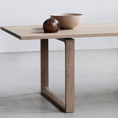 Fritz Hansen Essay Dining Table in Oak by Cecilie Manz | Rectangular Tables…                                                                                                                                                     More