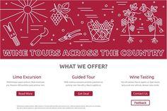 Wine industry Web landing page  by Sunshine Art Shop on @creativemarket