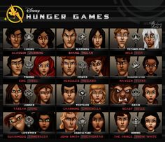 disney movie hunger games teams!