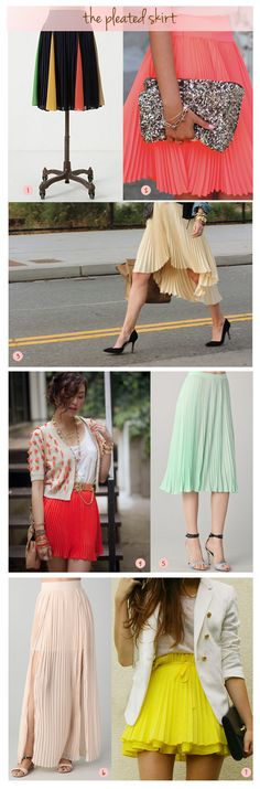 trend, pleated skirts
