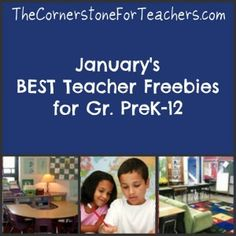 A carefully selected collection of freebies for all grade levels