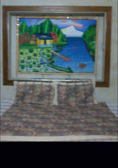 Wall paper painting
