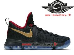 1714e7077b2f Chaussures Homme Nike KD 9 Basket Pas Cher Gold Medal 843396-470