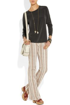 must have outfit Étoile Isabel Marant|Printed mid-rise flared jeans|NET-A-PORTER.COM
