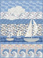 Sailing Away free quilt pattern. Love it, but with not as many prints!