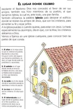 La Misa explicada Teaching Religion, Religion Catolica, Bible Activities For Kids, Bible Study For Kids, Catholic Mass, Catholic School, Tips To Be Happy, Religious Education, Sunday School