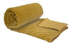 This quilt is of mustard color which is of cotton material with velvet as fabric. It is an Reme brand.