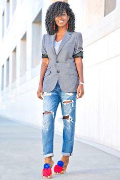 Style Pantry | Men's Blazer + Plain Tee + Boyfriend Jeans