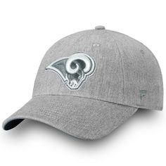 186a6b754 Men s Los Angeles Rams NFL Pro Line by Fanatics Branded Heathered Gray Lux  Slate Fundamental Adjustable