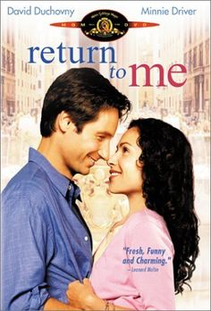 Return to Me DVD ~ David Duchovny, Minnie Driver, Carrol O'Connor, Bonnie Hunt, James Belushi, Robert Loggia