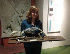 Cassie @Cumbria_Museums assisting the curators at the museum