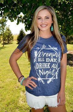 56b9a5b49d1e Dream All Day Country T-Shirt