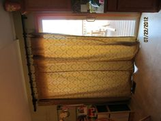 Curtain for the Dining Room. I bought the material on clearance at HL. Used a hidden stitch in the middle so the seam looked nice when I sewed 2 pieces together.