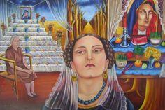 Maria Izquierdo tears during funeral painting