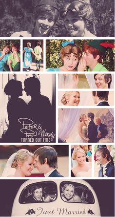 I love how they started out being characters at disney and married. <3