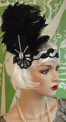 Vintage Look 1920's 30's Flapper Headband Hat Headpece Stage Speakeasy Flapper