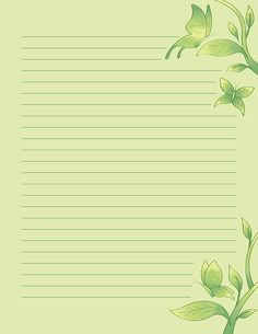 Free printable green butterfly stationery for x 11 paper. Available in JPG or PDF format and in lined and unlined versions. Printable Lined Paper, Free Printable Stationery, Blank Background, Printable Animals, Hand Lettering Fonts, Green Butterfly, Scrapbook Journal, Stationery Paper, Writing Paper
