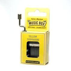 Kikkerland Yellow Submarine Crank Music Box:Amazon:Home & Kitchen