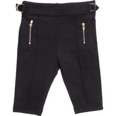 Chloé Girls Navy Blue Cotton Jersey Trousers (£72) ❤ liked on Polyvore