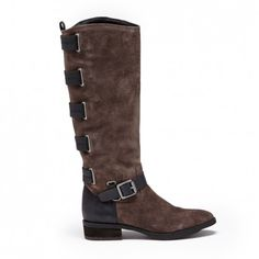 Suede Riding Boot