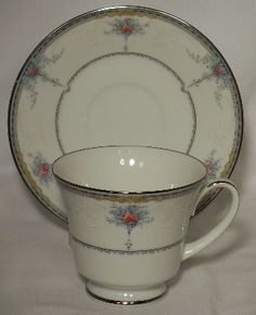 Noritake China Dearest Pattern 3785 Cup Saucer Set | eBay