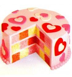 Valentins-Schachbrett-Kuchen