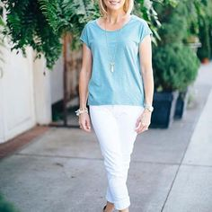 Elevate your tee shirt style in our pima model scoop neck! #lovelillap