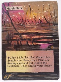Marsh Flats This Is Only One Of My Altered Cards From This Weeks Batch! To See Them All Go To   http://stores.ebay.com/MtgAlteredMagicCards #MTG #MtgAltered #MtgAlteredArt #MtgHandPainted #MtgExtendedArt #Magic   #SCG #EDH #FNM #MtgAddicts