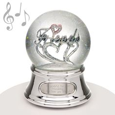 "Musical Water Globe - Friends - Friends are unique and this water globe will let them know how special they are to you. Featuring the word ""Friends"" and it makes the perfect gift for any special person in your life. When wound this snowglobe plays the song ""Clair de Lune."""