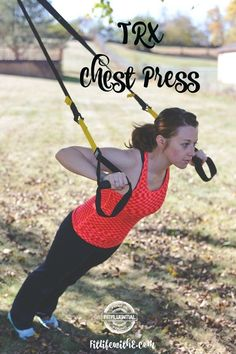Outdoor TRX Workout that you can do anywhere! Bring your TRX straps and anchor them to a tree or post for a full body workout.
